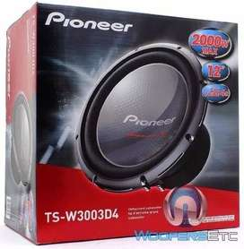 Subwoofer Pioneer Ts-w3003d4 12 2000w 600 Rms/ USADO COMO NUEVO