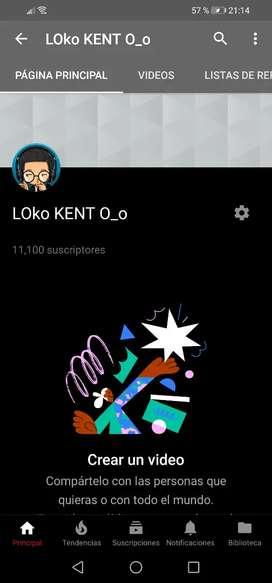 Vendo canal de youtube con 11000 subs