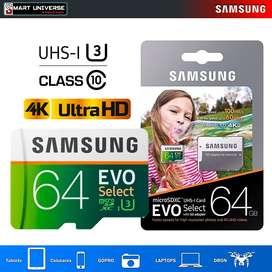 Memoria Micro Sd Samsung Evo 64gb 4k Clase10 U3 Gopro ORIGINAL FACTURA