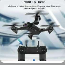 Dron doble cámara full hd 960p 2 mpx wiffi óptica led