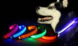 Collar Reflectivo Perro Mascotas Luz Led 3 Efectos
