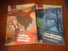 Vendo dos libros de PlanLector YoLeo. Los duendes secuestradores/ La confesión y Gulliver entre los gigantes