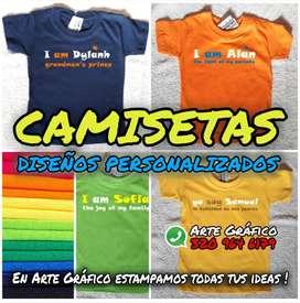 Camisetas para Niños Personalizadas.