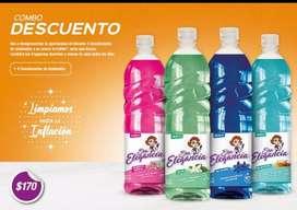 Vendo productos de limpieza Sra Elegancia.