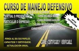 MANEJO DEFENSIVO PARA CONDUCTORES PROFESIONALES CERTIFICADO