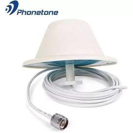 ANTENA DOMO OMNIDIRECCIONAL PHONETONE TQJ 5dBi 698/2700 MHZ + CABLE 5m CONECTOR N MACHO