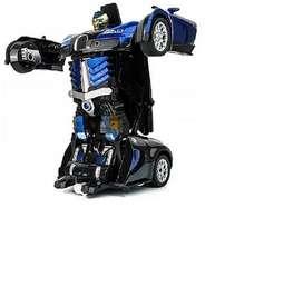 Carro Que Se Convierte En Robot Con Luces y Sonido