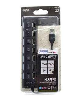 Hub USB 2.0 switch led