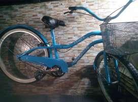 Bicicleta gw vintage color azul nueva