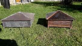 Claraboyas, una de 50x50 cm y otra de 40x40 cm