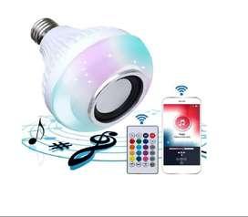 Bombillo Led Multicolor Bluetooth Y Altavoz Parlante Todo En