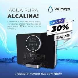 Wings Water Agua alcalina a tu alcance