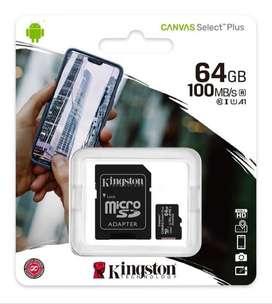 Memoria Kingston 64gb Sd Micro Sd Clase 10 100mbps- La Plata