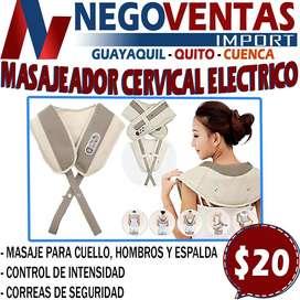 MASAJEADOR CERVICAL ELECTRICO EN OFERTA EXCLUSIVA UNICAMENTE AQUI EN NEGOVENTAS LOS MEJORES PRECIOS DEL ECUADOR