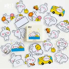 Stickers Molang y Piu PIu Scrapbooking