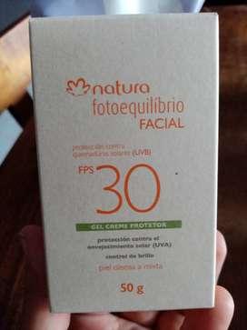 Bloqueador natura para rostro piel mixta
