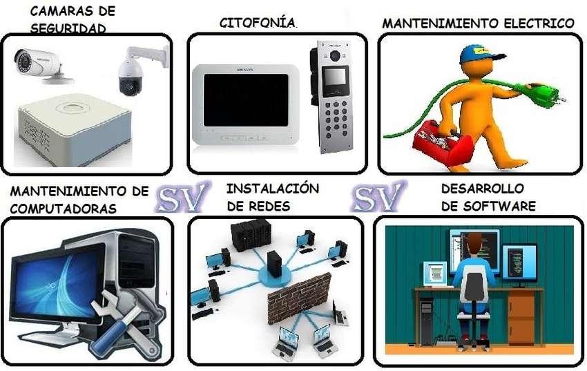 Camaras de seguridad,  alarmas, cableado estructurado, video portero, citofonia, desarrollo de software, electricidad 0