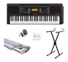 Teclado Piano Yamaha Psr E363 + Base, Protector, Usb.