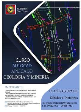 CURSO AUTOCAD APLICADO A LA GEOLOGIA Y MINERIA