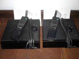 2 CONVERSORES DE CANALES CATV CON CONTROL REMOTO