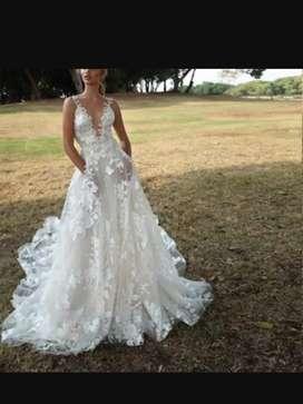 Hermoso vestido blanco nuevo en talla M