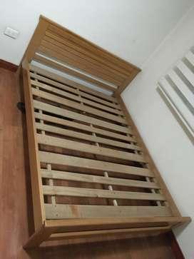 Cama doble más colchón