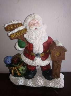 Adorno Navidad papa Noel en buzon