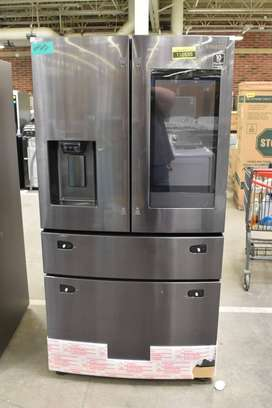 "Samsung RF28R7551SG Refrigerador negro de acero inoxidable de 36 """