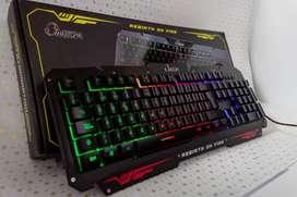 Teclado Gamer Usb Omega Kb-806 Retroiluminado / Antiderrames
