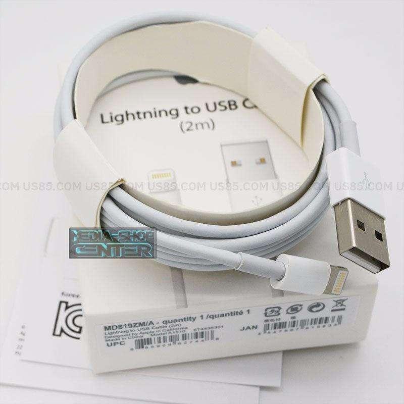 Cable Usb Lightning Original 2 Mtr Apple Ipad Iphone 5s 6 7 8 10 X Xs Caja Sellada Tribunales 0