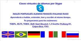 Clases de Portugués, alemán, italiano y ruso por Skype.