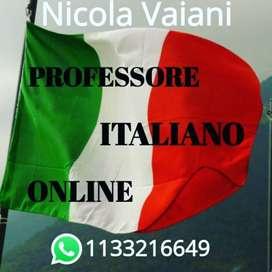 Professore nativo para tu avance y aprendimiento en el idioma mas bello