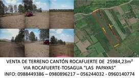 Venta de terreno - Cantón Rocafuerte- Manabí