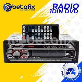 RADIO DE AUTO 1DIN S-GT460U REPRODUCTOR DVD / CD / MP3 / USB / AUX DESMONTABLE BETAFIX