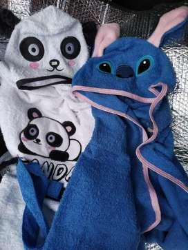 Salidas de baño panda y stitch