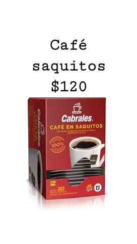 Cafe en saquitos x 20 unidades