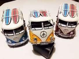 VW Volkswagen Kombi Camper Van con tablas de surf Bus Decora ARTE
