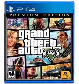 Grand Theft Auto V - Premium Edition Ps4 Físico - Nuevo - Sellado