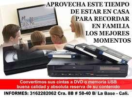 Conversion de cassetes y cintas a DVD