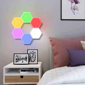 panel de luz hexagonal LED x6 diagonal sensible al tacto
