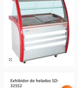 Mostrador de helados de acero inoxidable