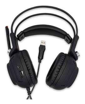 Audífono Diadema Para Pc Gamer Ps3 Ps4 Con Vibración Luz Led