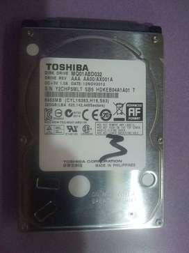 Vendo Disco 320GB Toshiba Notebook