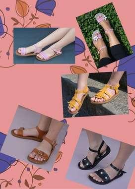 Sandalias diferentes tallas