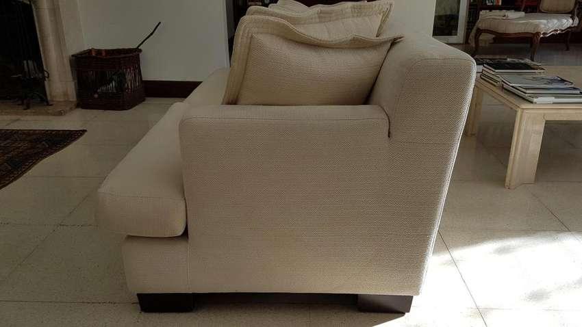 Sofa 2 Cuerpos Grandes Tela Impec. Se Entrega San Martin 0