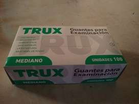 Guantes De Latex M caja de 100  marca TRUX