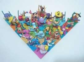 Isla músicos completa 22 figuras encastrables Hanna Barbera