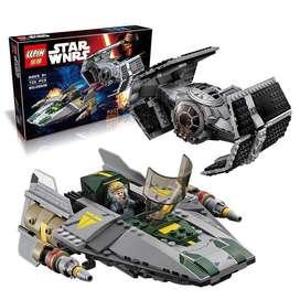 Juguete para armar tipo Lego Star Wars Vader Tie Advance