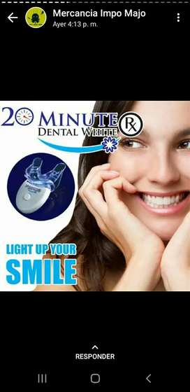 Blanqueador de dientes 20 minutos dental white con luz led