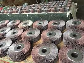 """GRATA TELA ESMERIL 6"""" x 2"""" x 1.1/4"""".  Especial para desbaste, pulido y acabado. Fabricadas en óxido de aluminio."""